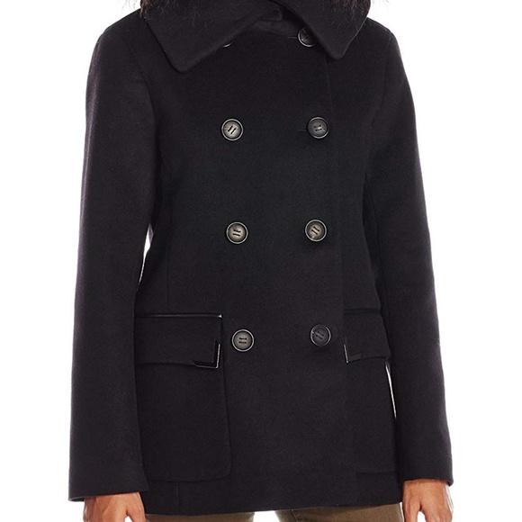 Mackage Jackets & Blazers - NWT! Mackage The Phoebe Wool Pea Coat Black